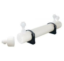 Plastic tube bundle heat exchanger